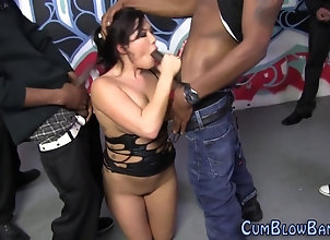 asian,bukkake,facial Asian blow black...