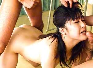 Asian,Blowjob,Japanese,Threesome,MMF,Group Sex,MILF Kyoka Mizusawa...