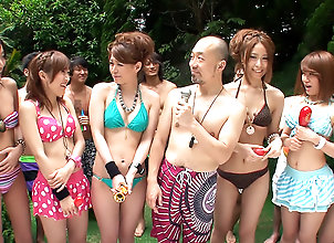 Asian,Japanese,Outdoor,Japan HDV,japanese,asian,outdoor,group sex,fingering,trimmed pussy Girls in bikinis...