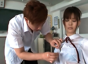 Asian,Teens,Uniform,J School Girls,Tsukasa Aoi,asian,teens,uniform,oil,body touching,cock sucking,oral sex,japanese,handjob,classroom,tubedupe Tsukasa Aoi...