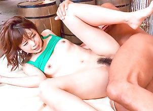 Asian,Japanese,Hardcore,MILF,Small Tits,Creampie,Hairy,Redhead,pussy licking,redhead,position 69,dick riding,rear fuck,doggy-style,creamed pussy Yura Kurokawa...