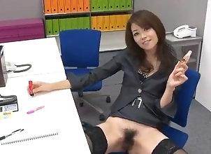 Asian,MILF,mom,amateur,office suit,black stockings,voyeur,sex toys,public place,vibrator,dildo,hairy pussy,public sex,asian,japanese Office bimbo,...