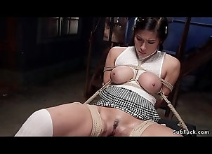 dildo,rough,gagging,toy,bigtits,asian,bdsm,fetish,bondage,slave,bizarre,tied,pain,rope,hogtie,kink,hogtied,punish,restrain,bdsm Big tits bound...
