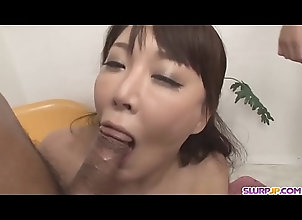 cumshot,milf,blowjob,asian,japanese,big-tits,group-sex,asian_woman Double pleasure...