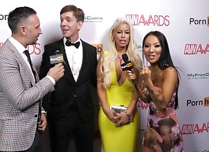 asa;adventures;adventure;asa;akira;avn;red;carpet;avn;awards;award;interview;japanese;big;dick;tattoo;skinny,Pornstar;Funny;Behind The Scenes,asa akira;keiran lee Pornhub on the...