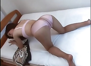 Asian;Masturbation;Stockings;Nylon;Pantyhose;Japan Japan Nylon 5