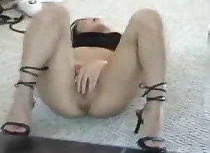 Asian;Babes;High Heels;Masturbation asian in mirror
