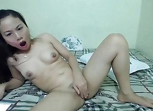 Asian;Fingering;Masturbation;Skinny;Squirting;Cute Asian;Rubbing Cute Asian...