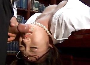 Asian,Blowjob,Cumshot,Glasses,hot milf,office suit,glasses,cock sucking,headfuck,deep throat,cum on face,uniform,japanese,asian Perfect sex story...