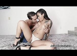 hardcore,blowjob,gagging,asian,tattooed,blowjob Slutty Asian babe...