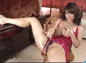 Asian,Japanese,Lingerie,hot milf,huge boobs,pink pussy,oiled body,red lingerie,tit squeezing,long nails,solo girl,hairy pussy,sex toys,vibrator,dildo,toy insertion,huge tits,tits,uniform Airi Ai amazing...