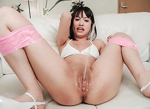 Asian,Japanese,Shaved Pussy,Squirting,Toys,Fingering,Small Tits,pink pussy,fingering,dildo,vibrator Kotomi Asakura...