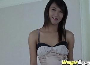 wondershemale;masturbate;petite,Asian;Masturbation;Small Tits;Transgender;Solo Trans Asian tranny solo...