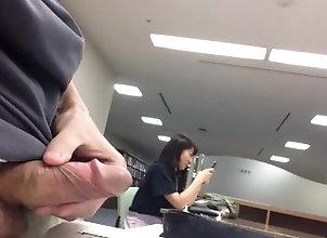 young;outside,Asian;Fetish;Masturbation;Public;Teen;Japanese 大学の自習�...
