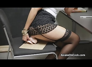 dildo,blowjob,lingerie,asian,office,reality,job-interview,sex_toys Asian chicks...