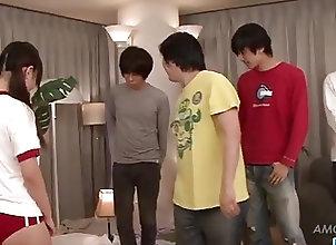 Asian;Blowjobs;Facials;Group Sex;Japanese;Group Fucking;Fucking;Jav HD Asian, Ryo Asaka,...