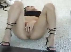 Asian;Babes;High Heels;Masturbation asian in mirror