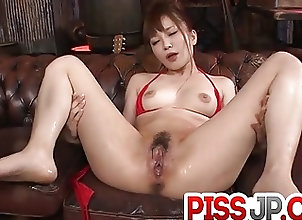 Asian;Bikini;Japanese;Sex Toys;Squirting;Red Lingerie;Steamy;Oral;Shio Fuky Steamy oral for...