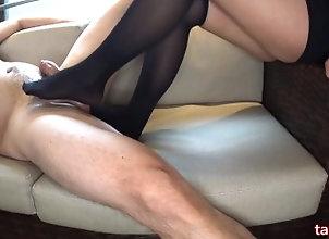 kink;point-of-view;footjob;japanese-foot-job;high-socks;thigh-high-socks;knee-high-socks;cum-on-socks;oil;lotion;sticky;hentai;cum-on-feet;足コキ;ニーハイ;足フェチ,POV;Feet;Japanese;Verified Amateurs Foot job with...