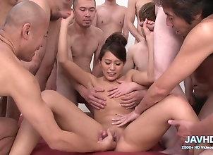 Asian,Hardcore,Japanese,Gang Bang,Amateur,Threesome,Group Sex,Brunette Real Japanese...